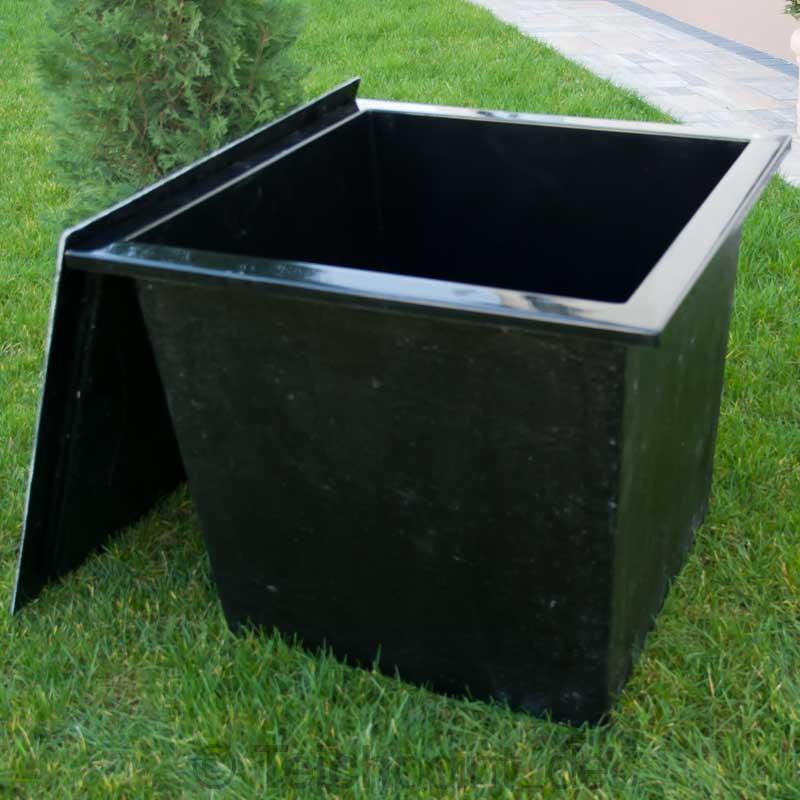 gfk pumpenschacht 70x70x60 cm mit deckel 216 liter pumpenkammer koi teich ebay. Black Bedroom Furniture Sets. Home Design Ideas