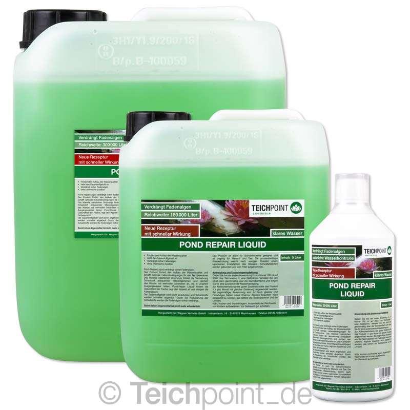 teichpoint pond repair liquid fl ssig keine fadenalgen koi teich algen filter ebay. Black Bedroom Furniture Sets. Home Design Ideas