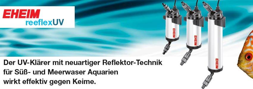 Die EHEIM reeflexUV UV-Wasserklärer Produktserie im Überblick