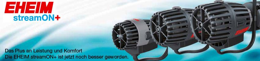 Die drei Modelle der neuen streamON+ Strömungspumpen Serie von EHEIM