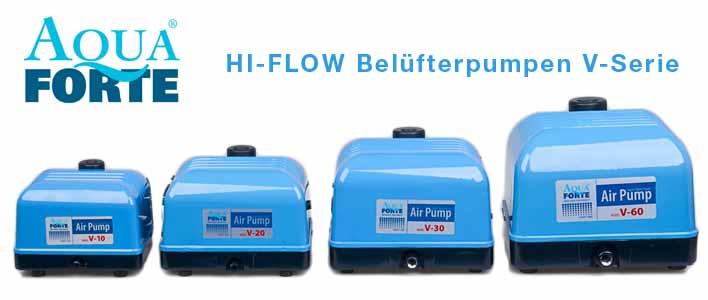 aquaforte Belüfter Pumpen Serie V-10, V20, V-30 und V-60