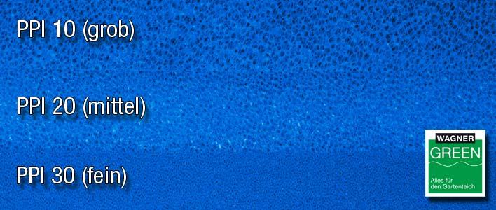 teichpoint filtermatten porungen: grob, mittel, fein