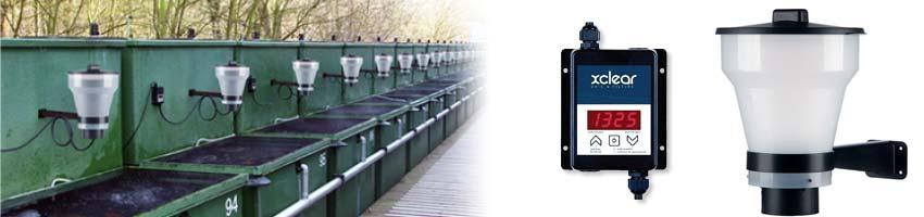 der neue Futterautomat von xclear im Einsatz an einer Koi Zuchtanlage