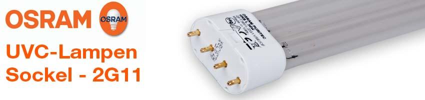 OSRAM Puritec Entkeimungs-Ultraviolettstrahler mit G23 Sockel 5/7/9/11 Watt Leistung