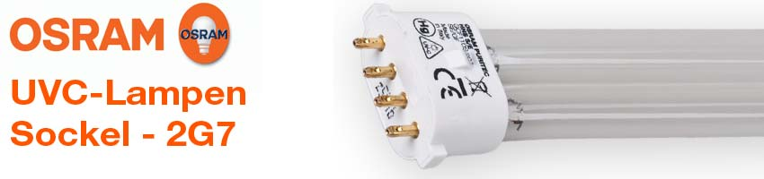 OSRAM Puritec Entkeimungs-Ultraviolettstrahler HNS S/E mit 2G7 Sockel 7/9/11 Watt Leistung