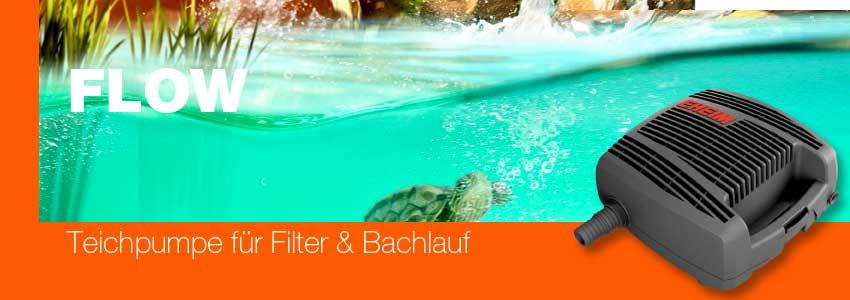 EHEIM FLOW Teichpumpen für Filter und Bachlauch