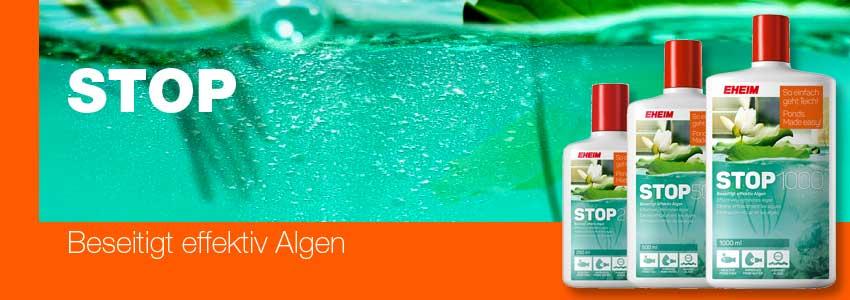 EHEIM STOP - beseitigt effektiv Algen und grünes Wasser in Gartenteichen
