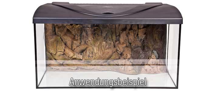 Die Felsen Rückwand in einem Einbaubeispiel gezeigt