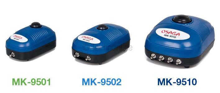 alle drei Membrankompressoren der MK-Serie