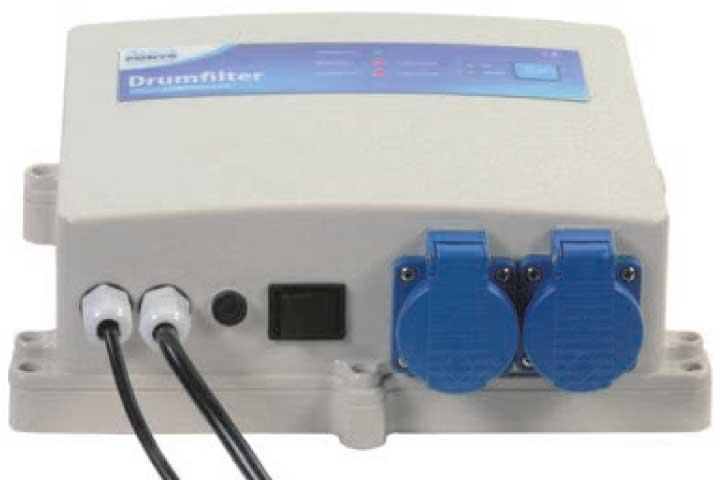 Das Steuergerät des AquaForte Trommelfilters mit integrierter Softwaresteuerung