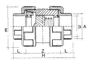 technische Zeichnung PVC Rückschlagventil