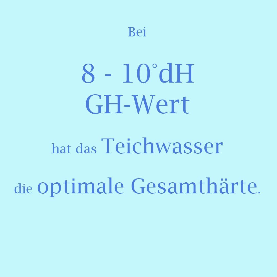 8-10 °dH GH-Wert = optimale Wasserhärte