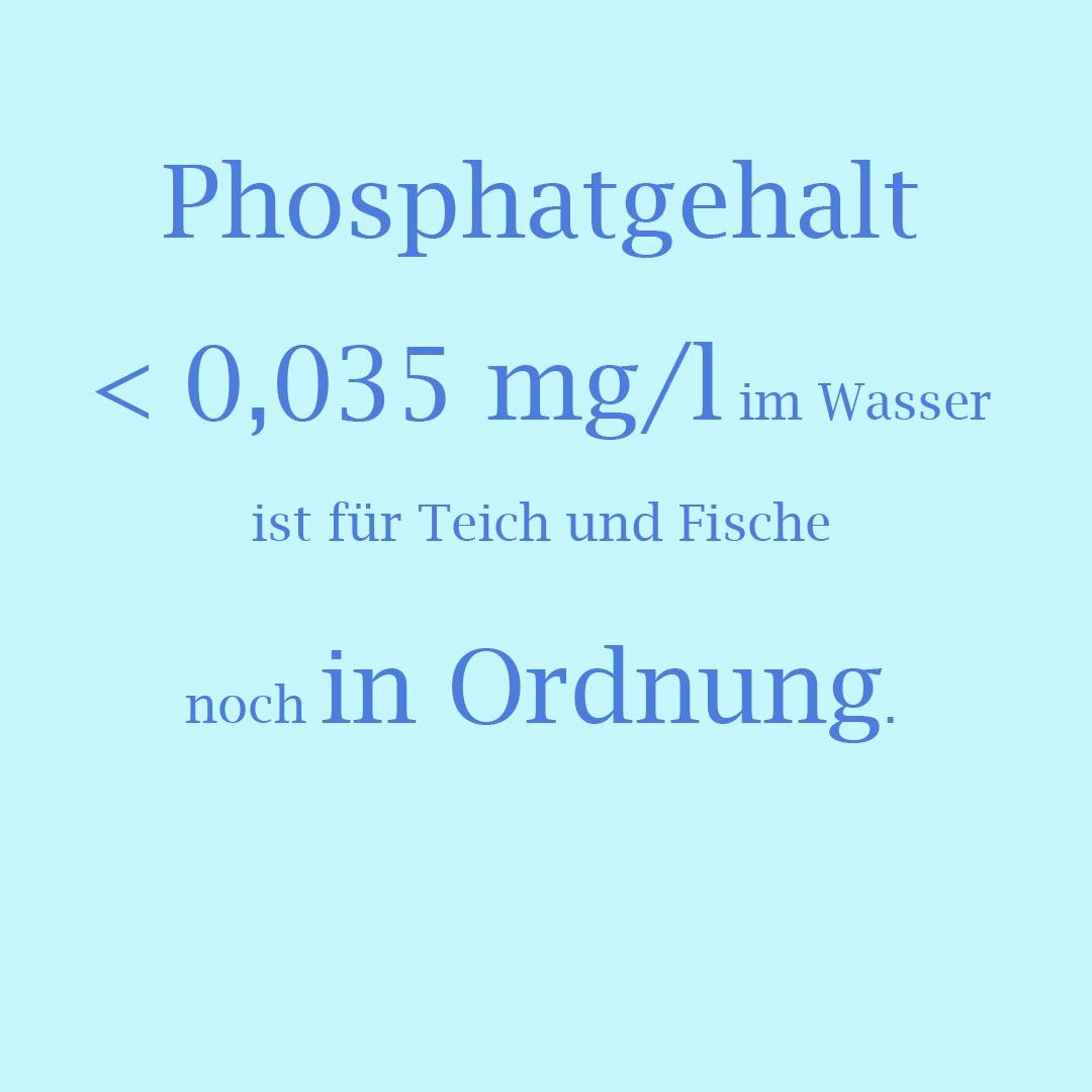 0,035 mg/l Phosphat im Teich