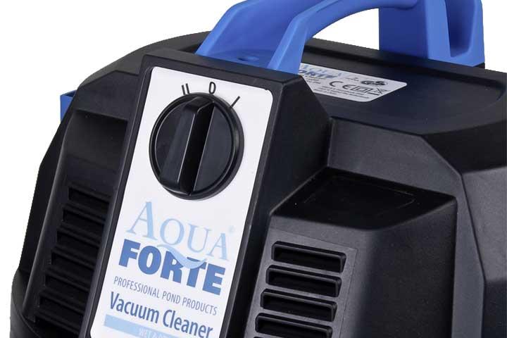 Hautpschalter am aquaforte teichschlammsauger