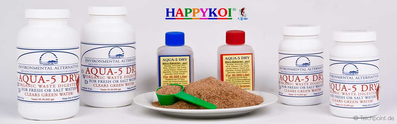 das komplette produkt sortiment aqua5dry von happykoi