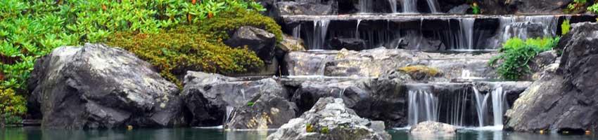 Kaskarden Wasserfall im Asiatischem Stil